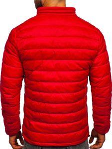 Kurtka męska przejściowa pikowana czerwona Denley 1119