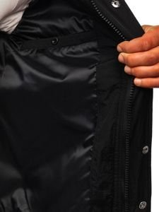 Kurtka męska przejściowa sportowa czarna Denley 5856