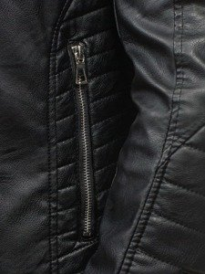 Kurtka męska skórzana czarna Denley 9188