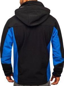Kurtka męska softshell czarno-niebieska Denley T019