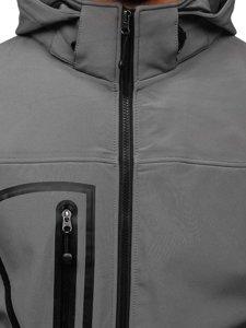 Kurtka męska softshell szara Denley T019