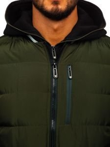 Kurtka męska zimowa bomberka khaki Denley 5892