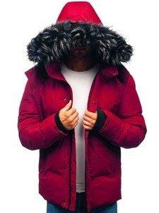 Kurtka męska zimowa bordowa Denley 201821