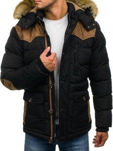 Kurtka męska zimowa czarna Denley 3079