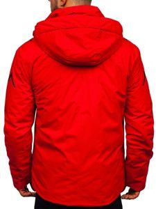 Kurtka męska zimowa narciarska czerwona Denley 5941