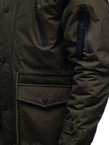 Kurtka męska zimowa parka khaki Denley R102