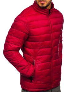 Kurtka męska zimowa pikowana bordowa Denley 1119