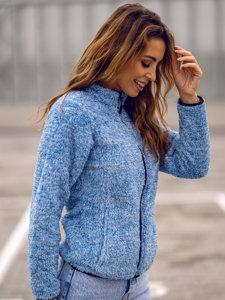Niebieska polarowa bluza damska bez kaptura Denley HH009