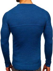 Niebieski sweter męski Denley 4623