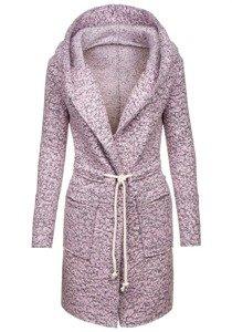 Płaszcz damski różowy Denley 6219