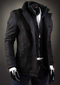 Płaszcz męski czarny Denley 8853D
