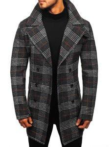 Płaszcz męski zimowy czarny Denley 1116