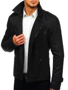 Płaszcz męski zimowy czarny Denley 3133