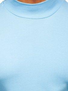 Półgolf męski basic błękitny Denley 145348