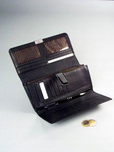 Portfel damski skórzany czarny 1166