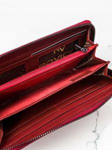 Portfel damski skórzany czerwony 2082