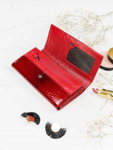 Portfel damski skórzany czerwony 2099