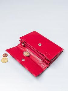 Portfel damski skórzany czerwony 2411
