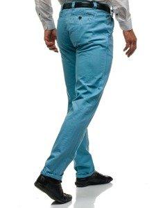 Spodnie chinosy męskie błękitne Denley 6188