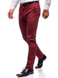 Spodnie chinosy męskie czerwone Denley 1120