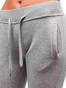 Spodnie dresowe damskie szare Denley 77001