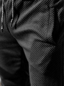 Spodnie dresowe męskie czarne Denley 1884