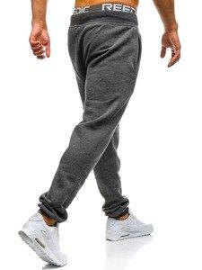 Spodnie dresowe męskie grafitowe Denley AK12