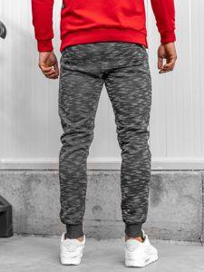 Spodnie dresowe męskie szare Denley 8738