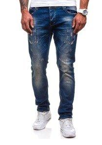 Spodnie jeansowe męskie granatowe Denley 4838-1(1017)