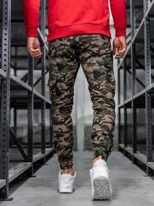 Spodnie joggery bojówki męskie moro-zielone Bolf 0404