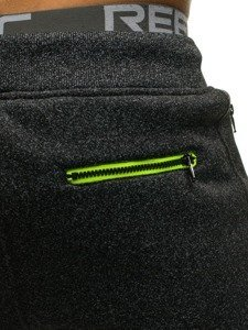 Spodnie męskie dresowe czarne Denley 1916