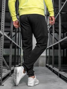 Spodnie męskie dresowe czarne Denley JX8957