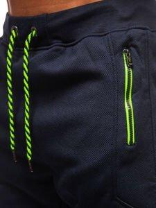 Spodnie męskie dresowe granatowe Denley 1929