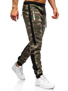 Spodnie męskie dresowe moro multikolor Denley 3783A