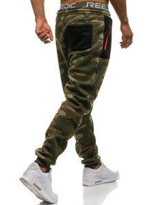 Spodnie męskie dresowe multikolor Denley 3781B