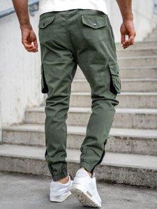 Spodnie męskie joggery bojówki khaki Bolf 0705