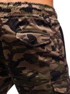 Spodnie męskie joggery bojówki moro-zielone Bolf 0705