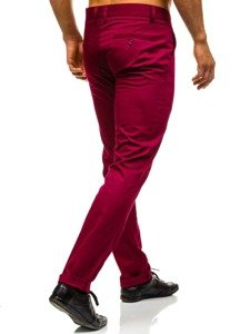 Spodnie wizytowe męskie bordowe Denley 0204