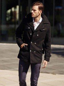 Stylizacja nr 314 - płaszcz zimowy, elegancka koszula, spodnie chinosy