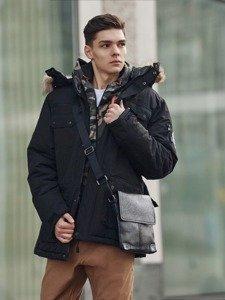 Stylizacja nr 360 - torba na ramię, kurtka zimowa parka, bluza z kapturem, longsleeve basic, spodnie baggy
