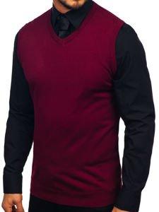 Sweter męski bez rękawów bordowy Denley 2500