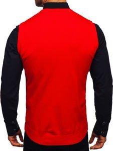 Sweter męski bez rękawów czerwony Denley 2500