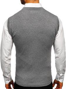 Sweter męski bez rękawów szary Denley H1939