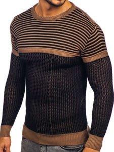 Sweter męski brązowy Denley 1013