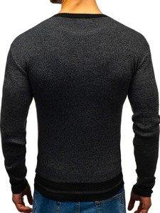 Sweter męski czarny Denley BM6124