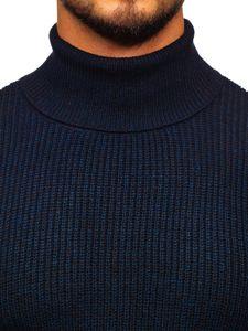 Sweter męski golf granatowy Denley H1927