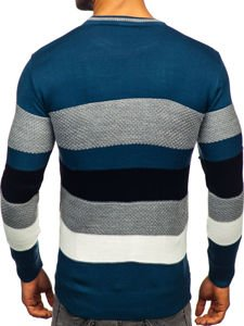Sweter męski niebieski Denley 04