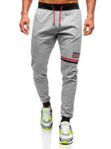 Szare dresowe spodnie męskie Denley AM108