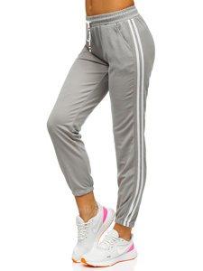 Szare spodnie dresowe damskie Denley YW01020D