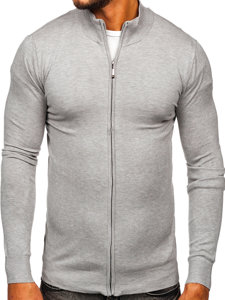 Szary rozpinany sweter męski Denley YY07